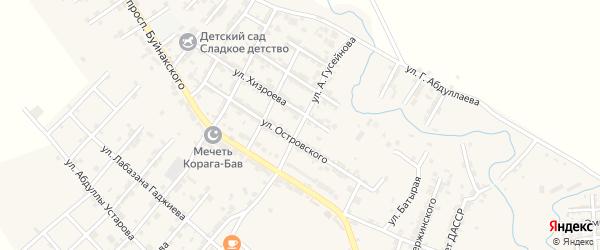 Улица А.Гусейнова на карте села Карабудахкента с номерами домов