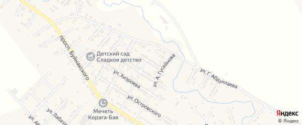 Улица Абакара Хайруллаева на карте села Карабудахкента с номерами домов