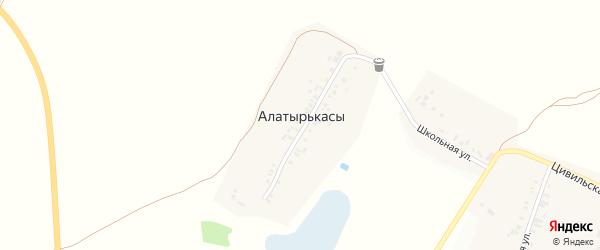 Улица Олега Иванова на карте деревни Алатырькас с номерами домов