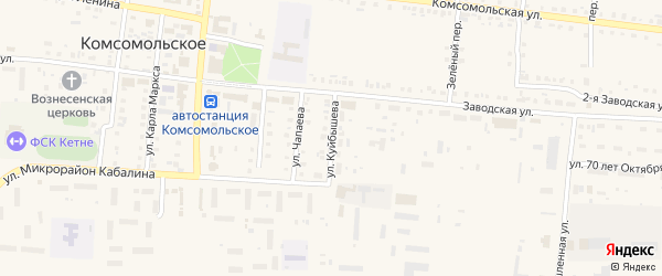 Улица Куйбышева на карте Комсомольского села с номерами домов