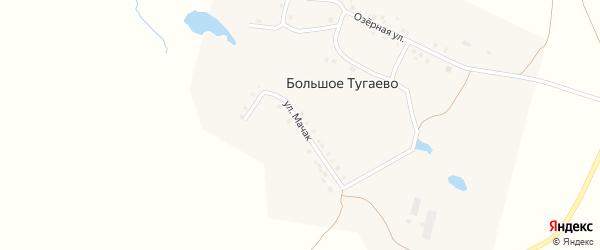 Улица Мачак на карте деревни Большое Тугаево с номерами домов