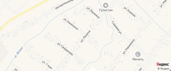 Улица Ленина на карте села Шыгырдана с номерами домов