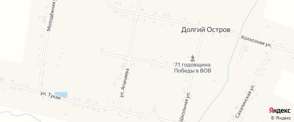 Центральная улица на карте деревни Долгого Острова с номерами домов