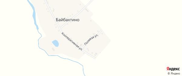 Полевая улица на карте деревни Байбахтино с номерами домов