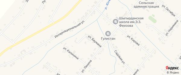 Улица Баумана на карте села Шыгырдана с номерами домов