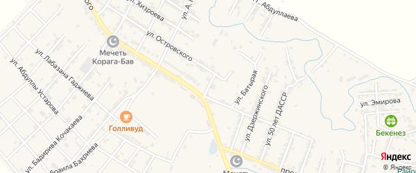 Родниковая улица на карте села Карабудахкента с номерами домов