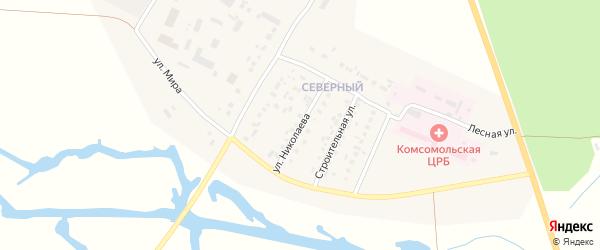 Улица Николаева на карте Комсомольского села с номерами домов