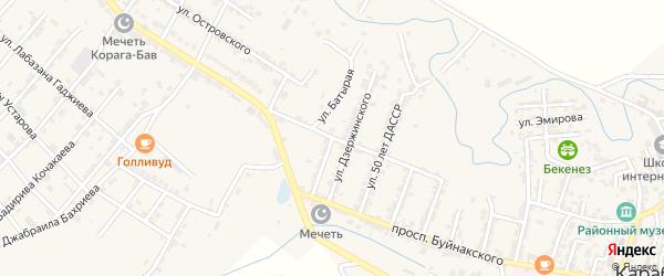 Батырая улица на карте села Карабудахкента с номерами домов
