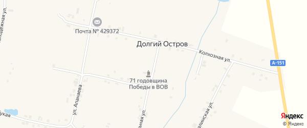 Школьная улица на карте деревни Долгого Острова с номерами домов