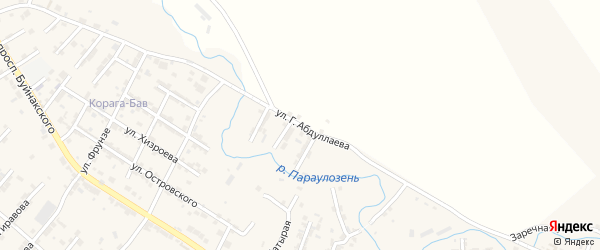 Улица Г.Абдуллаева на карте села Карабудахкента с номерами домов