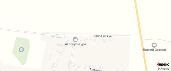 Напольная улица на карте деревни Долгого Острова с номерами домов