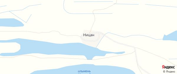 Карта поселка Ницана в Астраханской области с улицами и номерами домов
