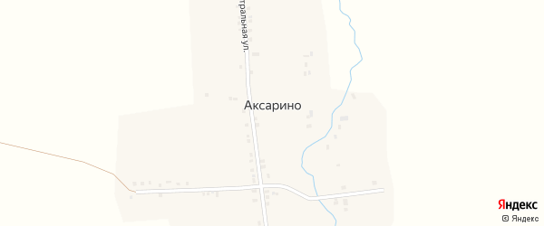 Овражная улица на карте деревни Аксарино с номерами домов