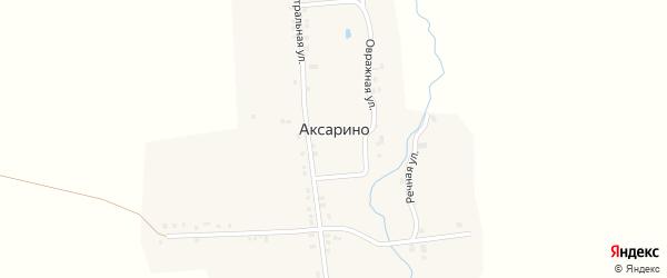 Речная улица на карте деревни Аксарино с номерами домов