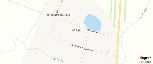 Озерная улица на карте деревни Маяка с номерами домов
