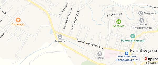 Улица Рокосовского на карте села Карабудахкента с номерами домов