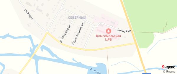 Улица Кречетниковой на карте Комсомольского села с номерами домов