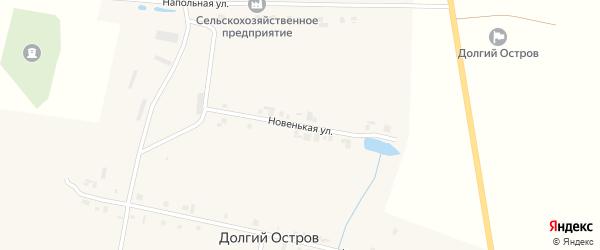 Новенькая улица на карте деревни Долгого Острова с номерами домов