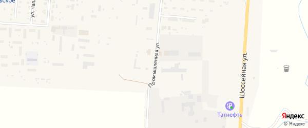 Промышленная улица на карте Комсомольского села с номерами домов