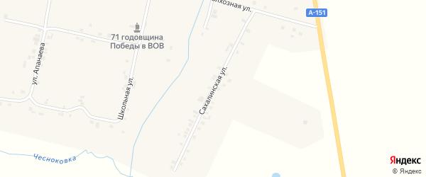 Сахалинская улица на карте деревни Долгого Острова с номерами домов