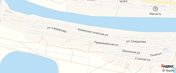 Улица Свердлова на карте села Оранжереи с номерами домов