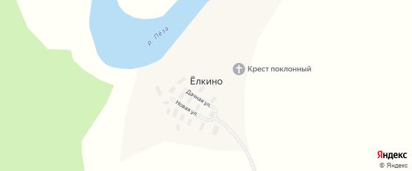 Новая улица на карте деревни Елкино с номерами домов