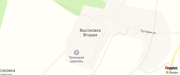 Улица Мира на карте села Высоковки Второй с номерами домов