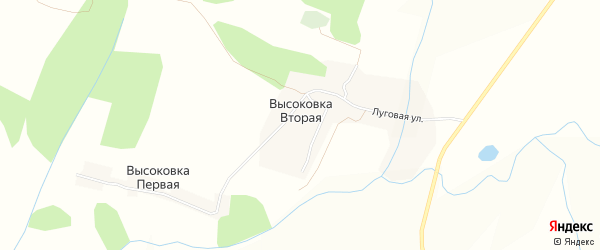 Карта села Высоковки Второй в Чувашии с улицами и номерами домов