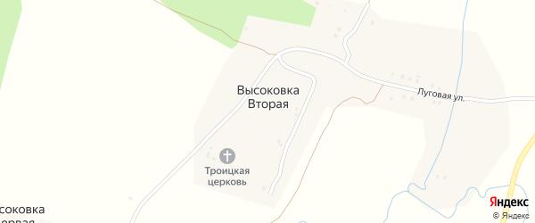 Южная улица на карте села Высоковки Второй с номерами домов