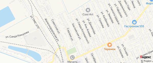 Каспийская улица на карте Каспийска с номерами домов
