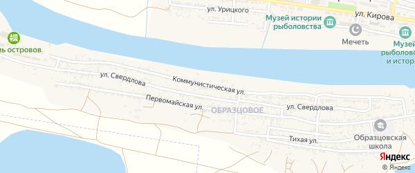 Коммунистическая улица на карте села Оранжереи с номерами домов