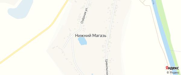 Школьная улица на карте деревни Нижнего Магази с номерами домов