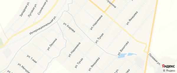 Карта села Шыгырдана в Чувашии с улицами и номерами домов