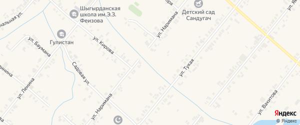 Симбирская улица на карте села Шыгырдана с номерами домов