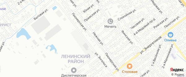 Пионерская улица на карте Каспийска с номерами домов