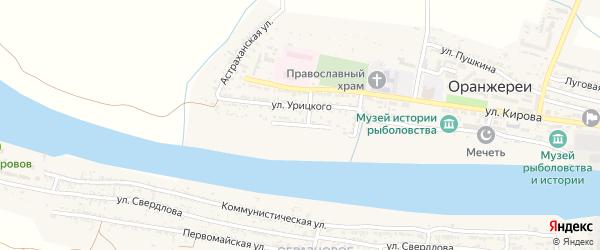 Улица Матросова на карте села Оранжереи с номерами домов