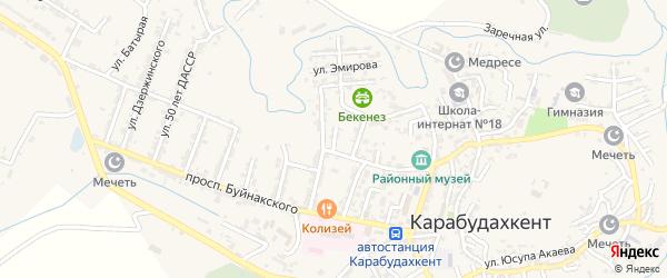 Улица Николаева на карте села Карабудахкента с номерами домов