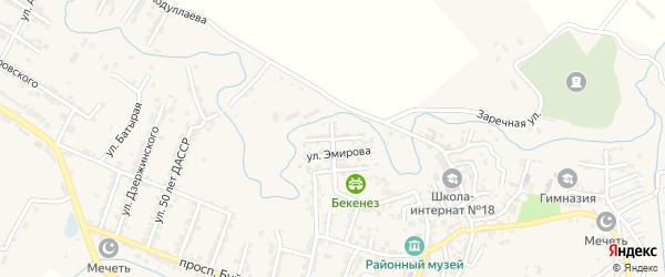 Улица Нурадилова на карте села Карабудахкента с номерами домов