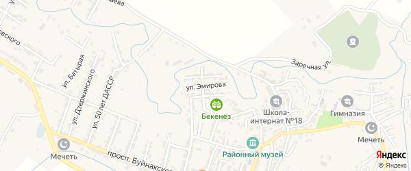 Улица Эмирова на карте села Карабудахкента с номерами домов