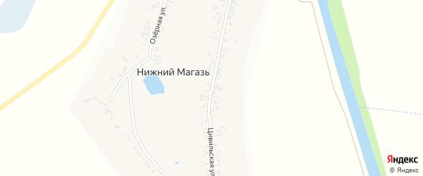 Цивильская улица на карте деревни Нижнего Магази с номерами домов