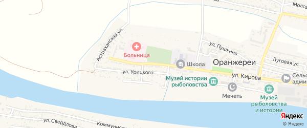 Улица Корнеева на карте села Оранжереи с номерами домов
