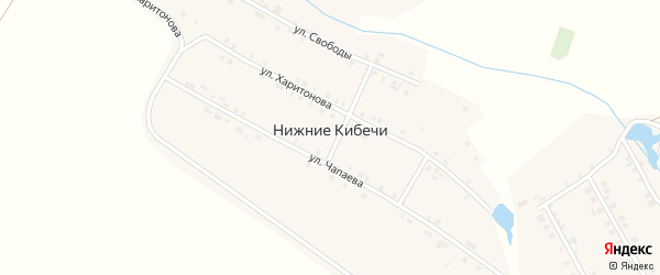 Улица Свободы на карте деревни Нижние Кибечи с номерами домов