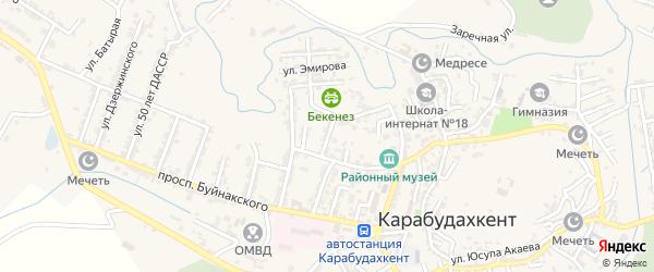 Улица Мурадова на карте села Карабудахкента с номерами домов