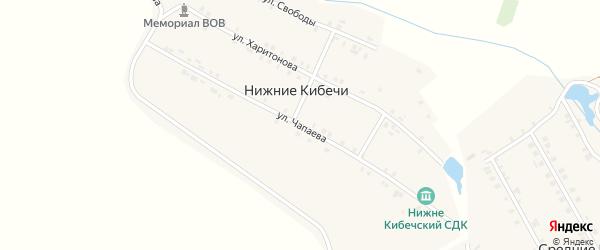 Улица Чапаева на карте деревни Нижние Кибечи с номерами домов