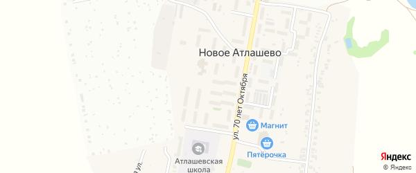 Парковая улица на карте поселка Новое Атлашево с номерами домов