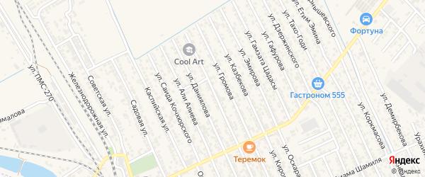 Улица А. Султана на карте Строителя СНТ с номерами домов
