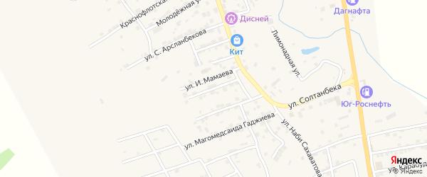 Улица Х-гаджи Гаджиева на карте села Карабудахкента с номерами домов