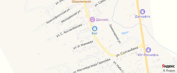 Улица Ибрагима Хизриева на карте села Карабудахкента с номерами домов