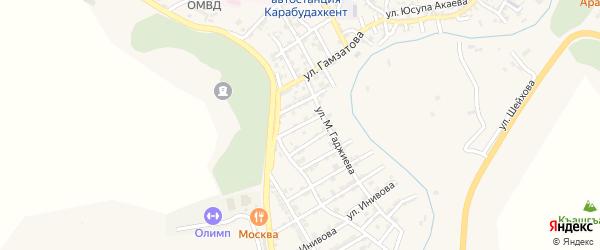 Интернациональная улица на карте села Карабудахкента с номерами домов