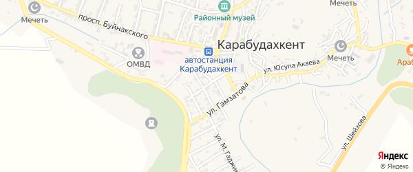 Улица Павлова на карте села Карабудахкента с номерами домов